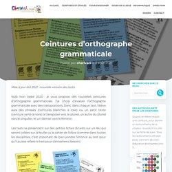Ceintures d'orthographe grammaticale