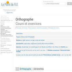 Orthographe - Dictées - Exercices interactifs de français