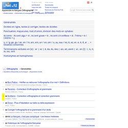 Orthographe - Dictées - Langue française - Exercices interactifs de français