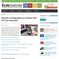 Dossier orthographe : Le meilleur des TIC à la rescousse