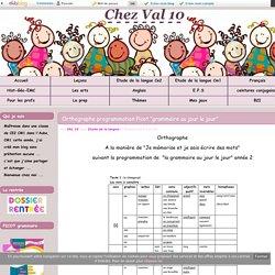 """Orthographe programmation Picot """"grammaire au jour le jour"""" - Chez Val 10"""