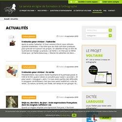 Orthographe : le blog du Projet Voltaire