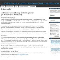 Orthographe - La technologie au service des élèves ayant des difficultés