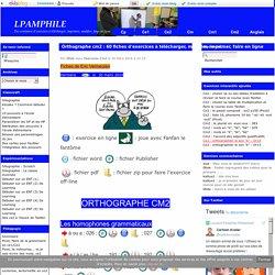 Orthographe cm2 : 60 fiches d'exercices à télécharger, modifier, imprimer, faire en ligne