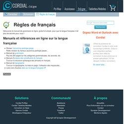 La langue française : manuels de grammaire française, orthographe, typographie