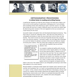 Orthographic Processing - Applied Learning Processes