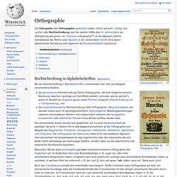 Orthographie (Rechtschreibung)