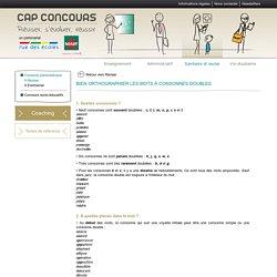 Bien orthographier les mots à consonnes doubles