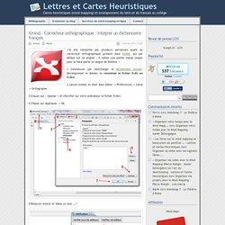 » Xmind – Correcteur orthographique – Intégrer un dictionnaire français - Lettres et Cartes Heuristiques