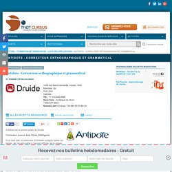 Antidote - Correcteur orthographique et grammatical