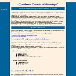 Correcteurs orthographiques et enseignement du français