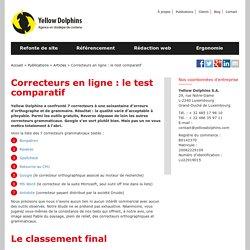 Correcteurs orthographiques et grammaticaux en ligne : test comparatif