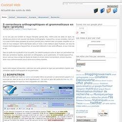 correcteurs orthographiques et grammaticaux en ligne (gratuits)