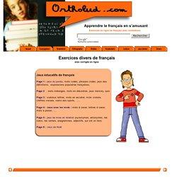 Ortholud.com, Jeux divers en ligne pour apprendre le français