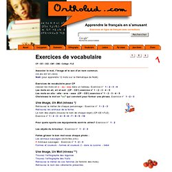 exercices de vocabulaire en ligne page 1
