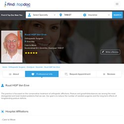 Dr. Ruud HGP Van Erve, Orthopaedic Surgeon in Deventer, - Professional Info - FindATopDoc
