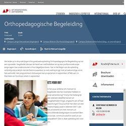 Graduaat Orthopedagogische Begeleiding