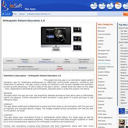 Orthopedic Patient Education download software for Mac