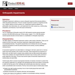 Orthopedic Impairments - Project IDEAL