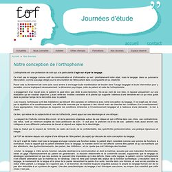 Fédération des Orthophonistes de France