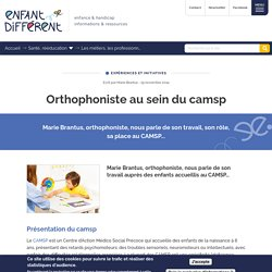 Orthophoniste au sein du camsp