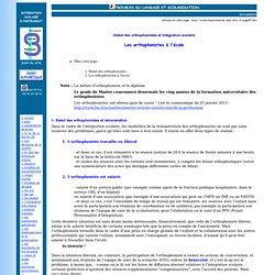 Statut des orthophonistes et intégration scolaire