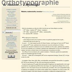 De Madame… à Mythologie — Orthotypographie, de Jean-Pierre Lacroux (Dictionnaire des règles typographiques françaises)