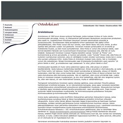 Ortodoksi.net - Areiolaisuus