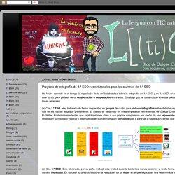 La lengua con TIC entra - L([ti]C)yL - Blog de LCL de Quique Castillo: Proyecto de ortografía de 3.º ESO: videotutoriales para los alumnos de 1.º ESO