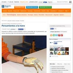 Novedoso brazo ortopédico en EEUU Pensamientos a la mano