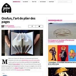 Orufun, l'art de plier des pages - GOLEM13.FR