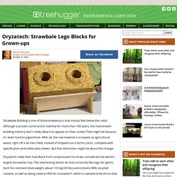 Oryzatech: Strawbale Lego Blocks for Grown-ups