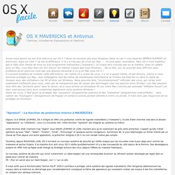 : : OS X facile : : OS X et Antivirus