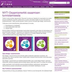 NYT! Osaamismerkki osaamisen tunnistamisesta - Uutiset - TIEKE