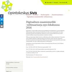 Digitaalinen osaamismerkki -webinaarisarja - Opintokeskus Sivis