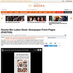 Osama Bin Laden Dead: Newspaper Front Pages (PHOTOS)