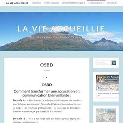 OSBD – La Vie Accueillie