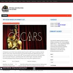 88th Oscar awards 2016 winner's list … - WDUR 1490AM WDUR 1490AM