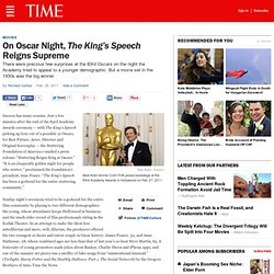 Oscars: 'King's Speech' Reigns Supreme with Four Awards - TIME