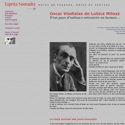 Oscar Vladislas de Lubicz Milosz