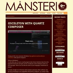 OSCeleton Avec Quartz Composer Månsteri «
