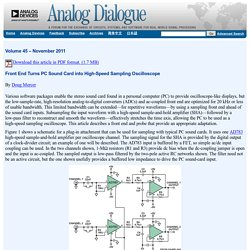 Sound Card Oscilloscope: Analog Dialogue: Analog Devices