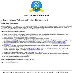 OSCQR Annotations