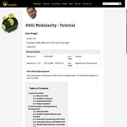 OSGi Modularity
