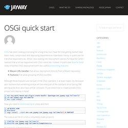 OSGi quick start