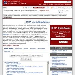 OSHA Law & Regulations