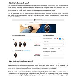 Oshenwatch Luxe Review