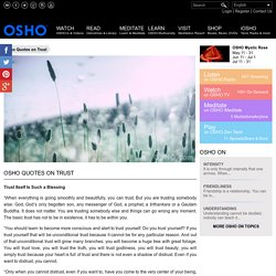 Osho Quotes on Trust