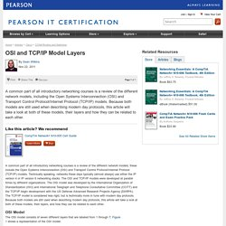 OSI and TCP/IP Model Layers