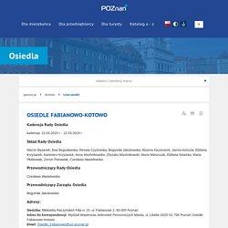 Osiedle Fabianowo-kotowo - Osiedla